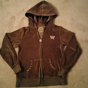 Arizona Brown VELOUR Hoodie sweater